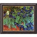 Vincent Van Gogh 'Les Irises (Irises)' Framed Canvas Art