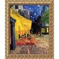 Vincent Van Gogh 'Cafe Terrace At Night' Framed Canvas Art