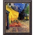 Vincent Van Gogh 'Cafe Terrace at Night' Small Framed Canvas Art