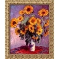 Claude Monet 'Sunflowers, 1881' Small Framed Canvas Art