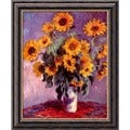 Claude Monet 'Sunflowers, 1881' Framed Canvas Art