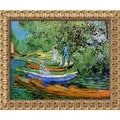 Vincent Van Gogh 'Bank of the Oise at Auvers' Framed Canvas Art