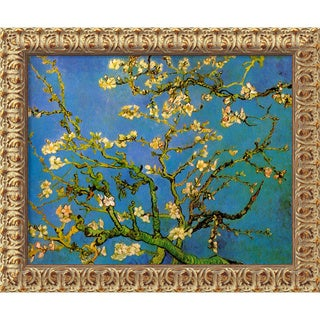 Vincent Van Gogh 'Almond Blossom' Small Framed Canvas Art