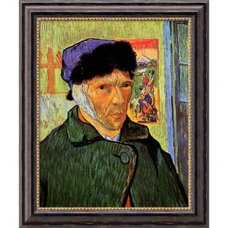 Vincent Van Gogh 'Self Portrait with Bandaged Ear, 1889' Framed Canvas Art