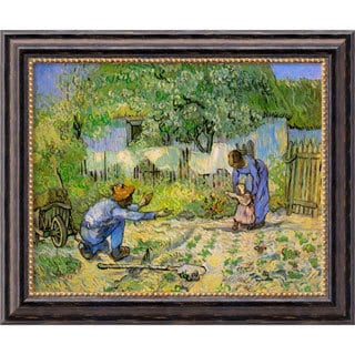 Vincent Van Gogh 'First Steps' Framed Canvas Art