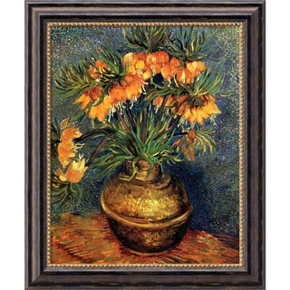 Vincent Van Gogh 'Imperial Crown Fritillaria in a Copper Vase, 1886' Framed Canvas Art