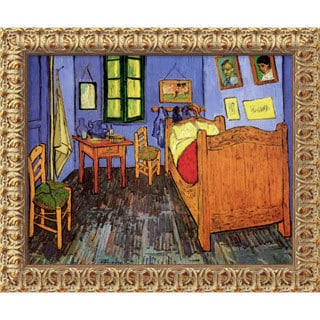 Vincent Van Gogh 'Bedroom at Arles' Small Framed Canvas Art