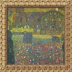 Gustav Klimt 'House in Attersee' Framed Small Canvas Art