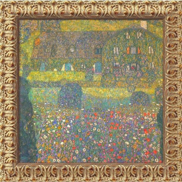 Gustav Klimt 'House in Attersee' Framed Small Canvas Art