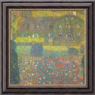 Gustav Klimt 'House in Attersee' Framed Canvas Art