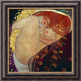 Gustav Klimt 'Danae' Framed Canvas Art