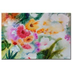 Sheila Golden 'Dream Flower Garden I' Gallery-wrapped Canvas Art