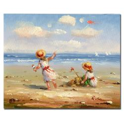 At the Beach I' Gallery-wrapped Canvas Art