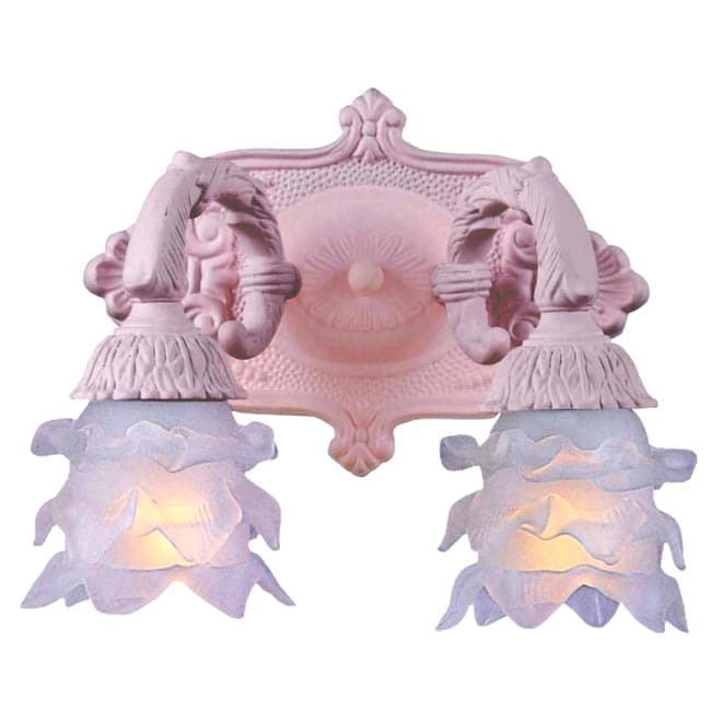 Paris Flea 2-light Blush Wall Sconce