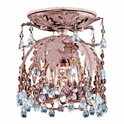 Melrose 1-light Blush Flushmount Light