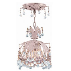 Melrose Blush 1-light Semi-flush Light Fixture