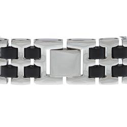 Stainless Steel Chicago Bears Logo Bracelet