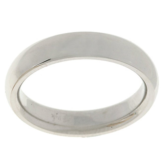 14k White Gold Men's 4-mm Comfort Fit Wedding Band