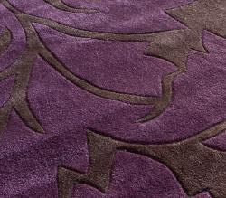 nuLOOM Handmade Pino Purple Floral Fantasy Rug (7'6 x 9'6)