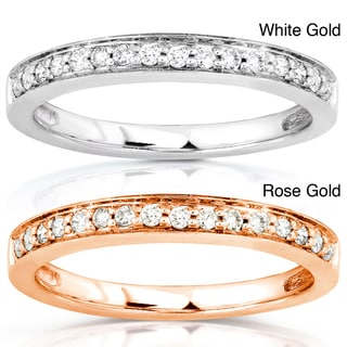 Annello 14k White or Rose Gold 1/6ct TDW Diamond Wedding Band (H-I, I1-I2)