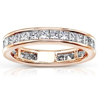 Annello 14k Gold 2ct TDW Diamond Eternity Wedding Band (H-I, I1-I2)