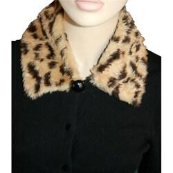 Cuff Luv Faux Leopard Fur Detachable Collar