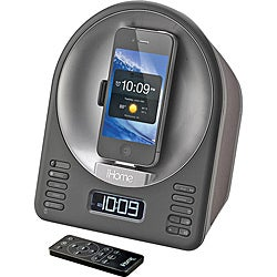 iHome iA63 App-Enhanced Alarm Clock with FM Radio and Motorized Rotating iPod/iPhone Dock