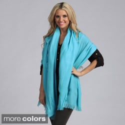 Cashmere Showroom Wool-blend Feathered Fringed Stylish Soft Wrap