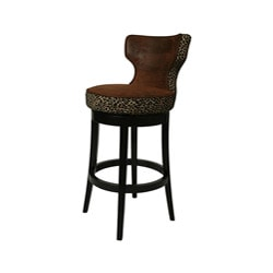 Augusta Black Wood Swivel Counter Stool