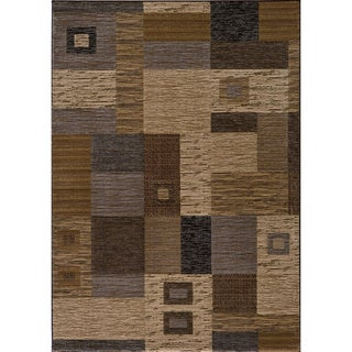 Dream Power-loomed Multi Squares Rug (5'3 x 7'6)