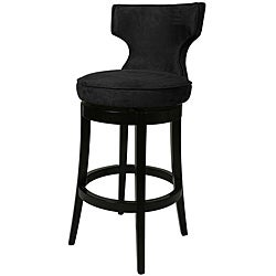 Augusta Black Wood Swivel Bar Stool