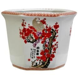 Porcelain Cherry Blossom Flower Pot (China)