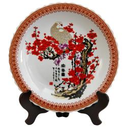 Porcelain 14-inch Cherry Blossom Plate (China)