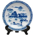 Porcelain 14-inch Blue and White Landscape Plate (China)