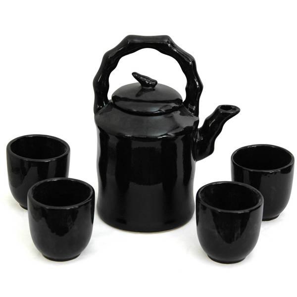 Porcelain Solid Black Tea Set (China) 7694343