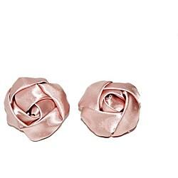 'Nadia' Pink Flower Shoe Clips