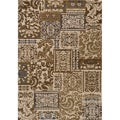 Dream Ivory Damask Blocks Geometric Rug (5'3 x 7'6)