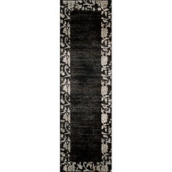 Dream Charcoal Borderd Rug (2'3 x 7'6)