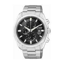 Citizen Eco-Drive Men's Titanium Chronograph Black Dial Watch
