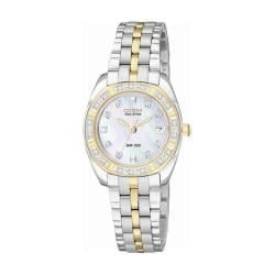 Citizen Eco-Drive Women's 'Paladion' Two-tone Diamond Case Watch