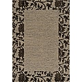 Dream Grey Bordered Rug (9'3 x 12'6)