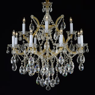Maria Theresa 13-light 2-tier Antique French Gold/ Crystal Chandelier