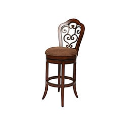 Carmel 30-inch Cosmo Sepia Swivel Wood Counter Stool