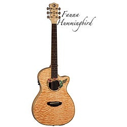 Luna Fauna Hummingbird Acoustic/Electric Folk Parlor Guitar