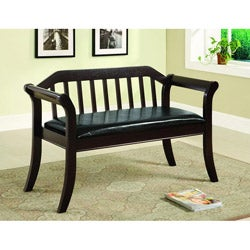 Ingrid Solid Wood Espresso Accent Bench