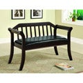 Furniture of America Ingrid Solid Wood Espresso Accent Bench