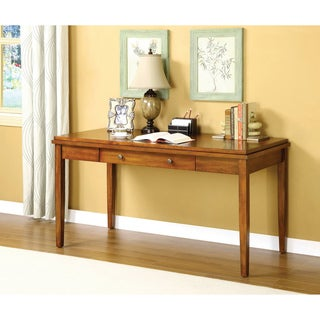 Furniture of America Heritage Oak Console Desk/ Table