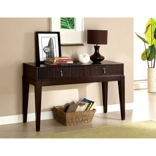 Furniture of America Avondale Dark Walnut Console Table