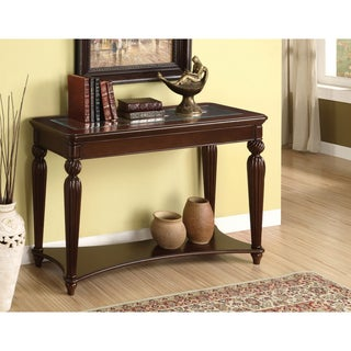 Furniture of America Morgan Beveled Glass Sofa/ Entryway Table
