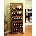 Furniture of America Sebastian Antique Oak 38-bottle Wine Rack